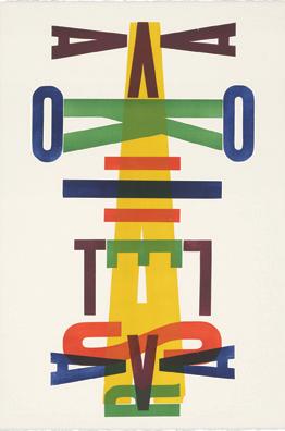 Avalokitesvara, letterpress monoprint