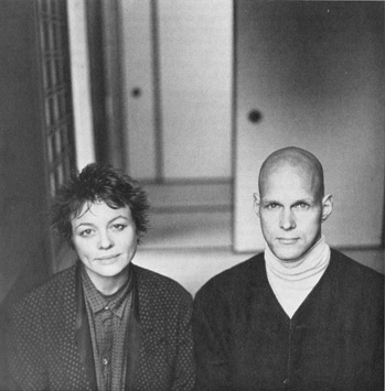 Laurie Anderson & Reb Anderson at GGF in 1989