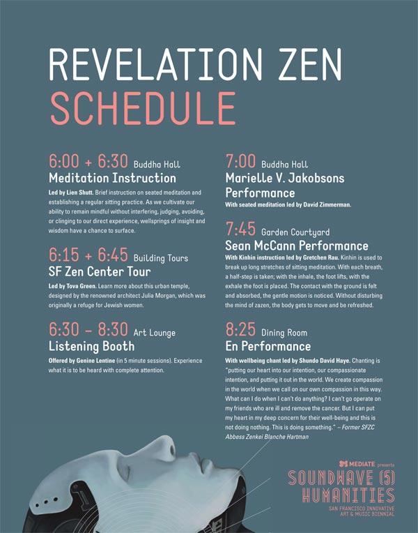 Schedule for Revelation Zen