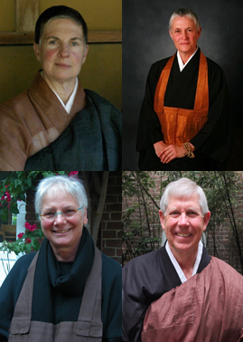 Clockwise from left: Eijun Linda Cutts, Furyu Nancy Schroeder, Rinso Ed Sattizahn, Kiku Christina Lehnherr