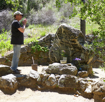 Dennis McNally, at the Suzuki Roshi memorial site at Tassajara (photo: Denise Shephard)