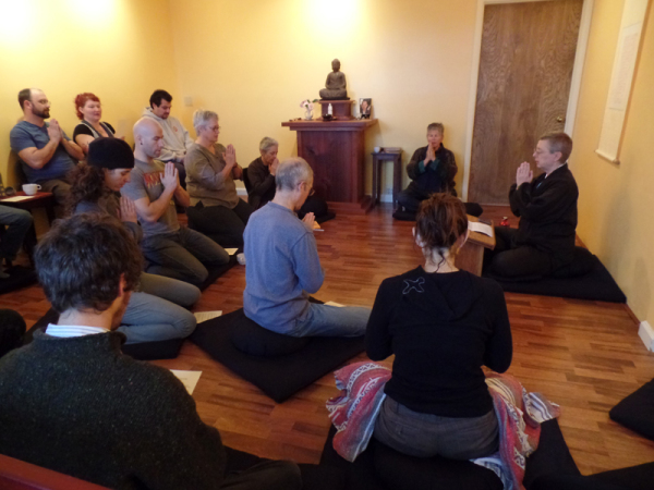 Daijaku Kinst offering a dharma talk.
