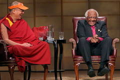 HH. the Dalai Lama with Bishop Tutu  (Photo: Carey Linde)