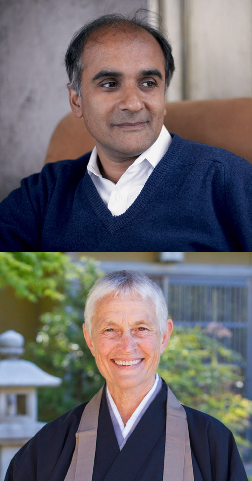 Pico Iyer (top, � Derek Shapton) and Fu Schroeder (� Anita Bowen Photography).