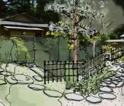 Drawing of Tea Garden
