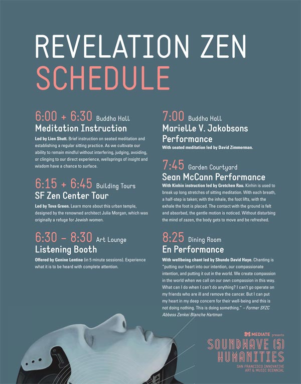 Schedule for Revelation Zen