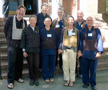 Organizers: Jim Hare, Laurel Ross, Rosalie Curtis, and Steve Weintraub; front: Tova Green, Ramana Waymire, Joan Amaral, Stacy Waymire