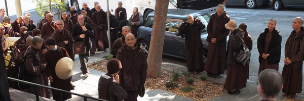 Thich Nhat Hanh's Impromptu Visit to City Center