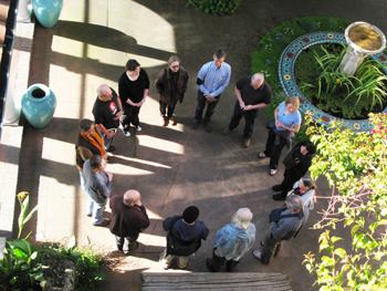 Saturday morning work circle (photo: Shundo David Haye)