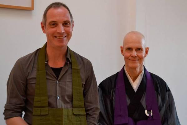 Bernd Bender (left) with Tenshin Reb Anderson