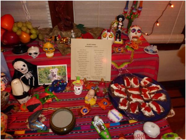 Sejiki Ceremony altar.