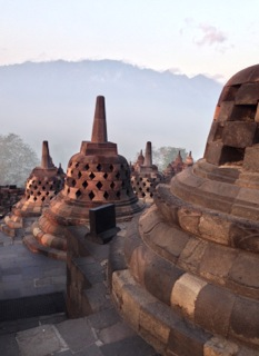 Stupas atop Borobudur Temple (Photo: Linda Cutts)