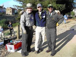 Damien Raffa (center) with colleagues in the Presidio