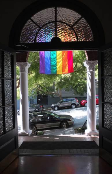 Pride-Flag-through-the-front-door