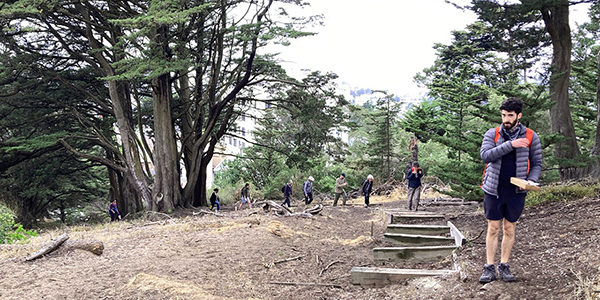 Group hiking in SF