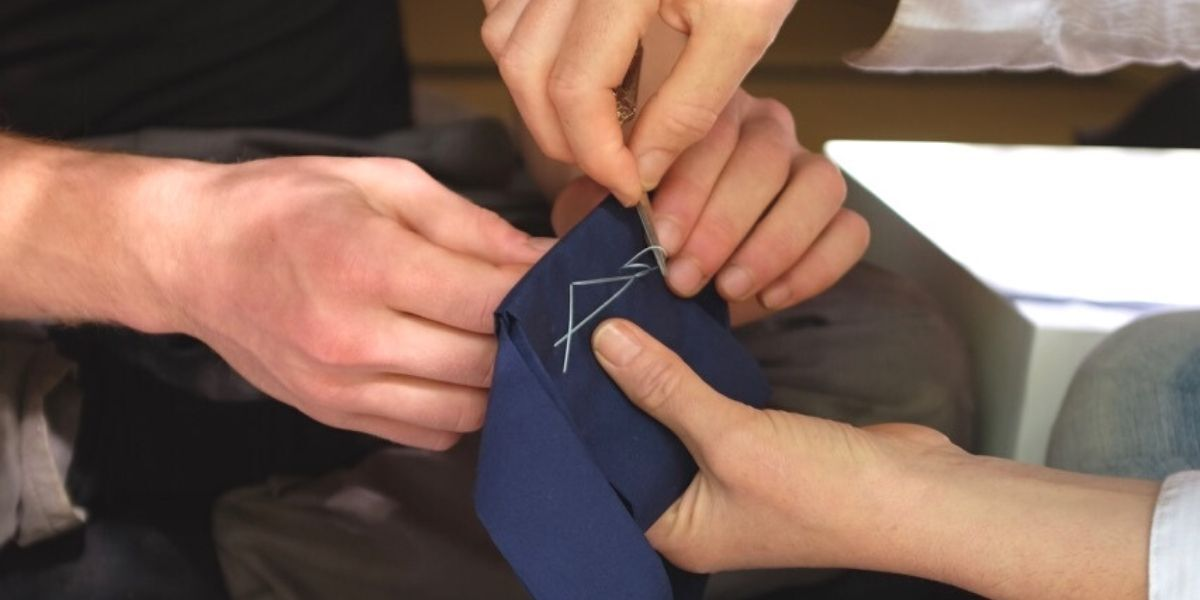 Sewing a rakusu